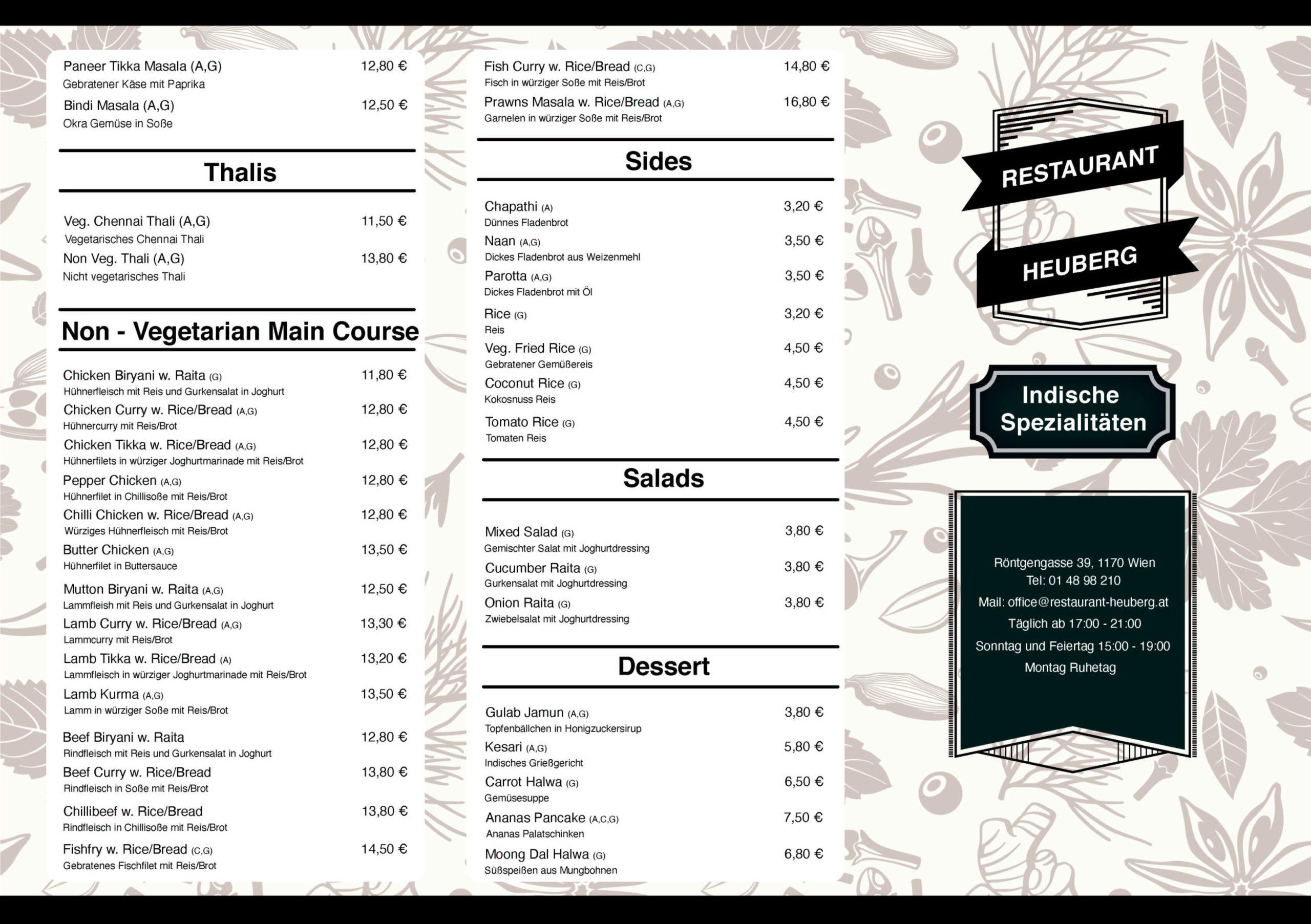 Indian Food Land 1170 Wien Restaurant Heuberg eh Wiener Schutzhaus Hernals Wien,17 Page 2